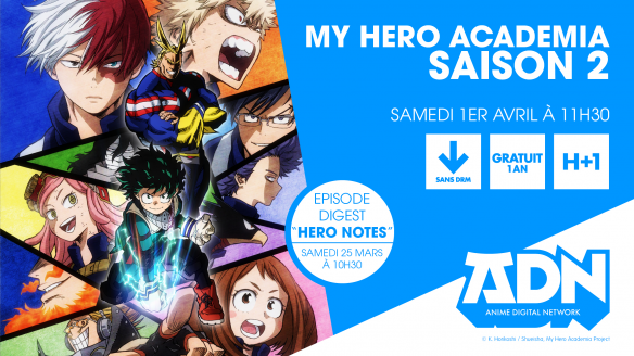 My Hero Academia saison 2 en streaming gratuit sur ADN