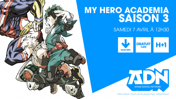 my hero academia saison 3 ep 1 vostfr streaming passionjapan. Black Bedroom Furniture Sets. Home Design Ideas