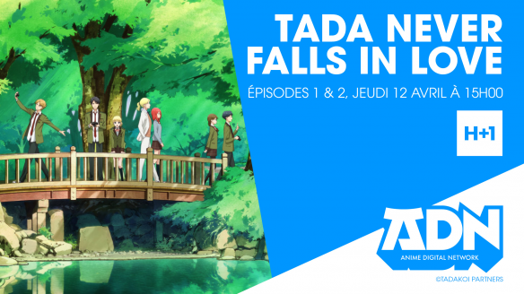 Tada Never Falls in Love arrive sur ADN !