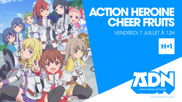 Action Heroine Cheer Fruits arrive sur ADN