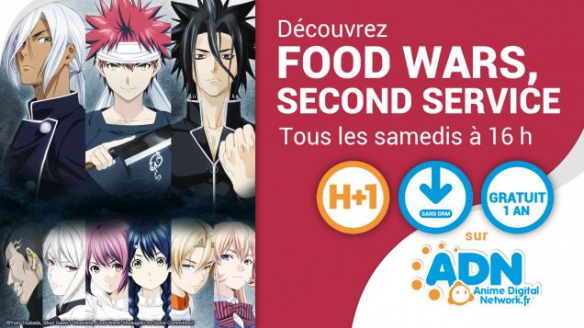 Food Wars Second Service débarque sur ADN !